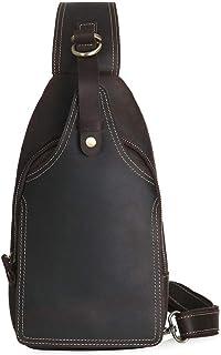 Men's Waterproof Chest Bag Messenger Bag, Multi-Function Riding Shoulder Backpack (Color : Black, Size : M)
