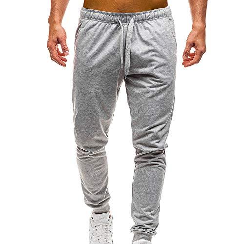 VPASS Pantalones para Hombre,Pantalones Casuales Moda Deportivos Color Sólido Pants Jogging Pantalon...