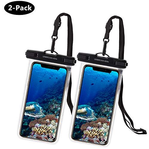 UNBREAKcable Universal Handytasche Wasserdicht - 6,6 Zoll IPX8 wasserdichte Handyhülle (Dry Bag) kompatibel für iPhone X, iPhone 8, iPhone 6, Huawei P30 Pro, Huawei P30 & mehr - 2er Packung