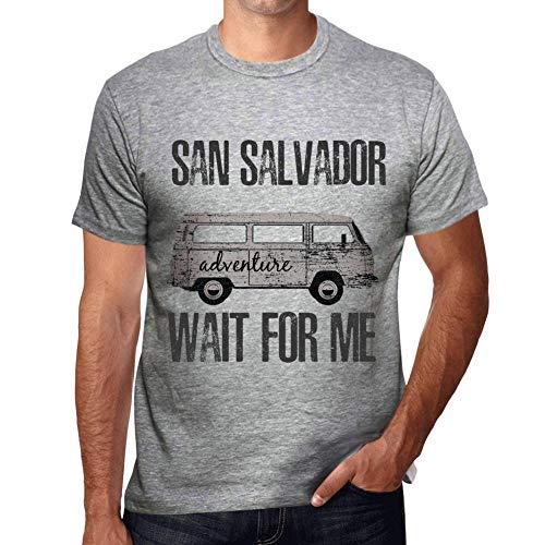 One in the City Hombre Camiseta Vintage T-Shirt Gráfico San Salvador Wait For Me Gris Moteado