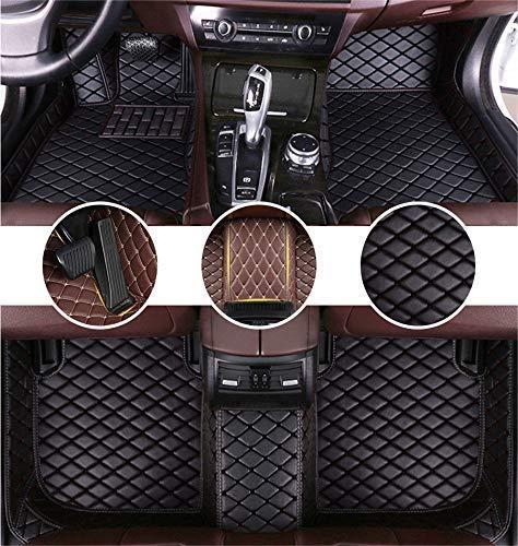 Muchkey Auto Tapetes de Piso Alfombra para Ford Kuga 2013-2018 (Split Rear Seats) Alfombrillas Impermeable Antideslizante de Cuero Interior Negro