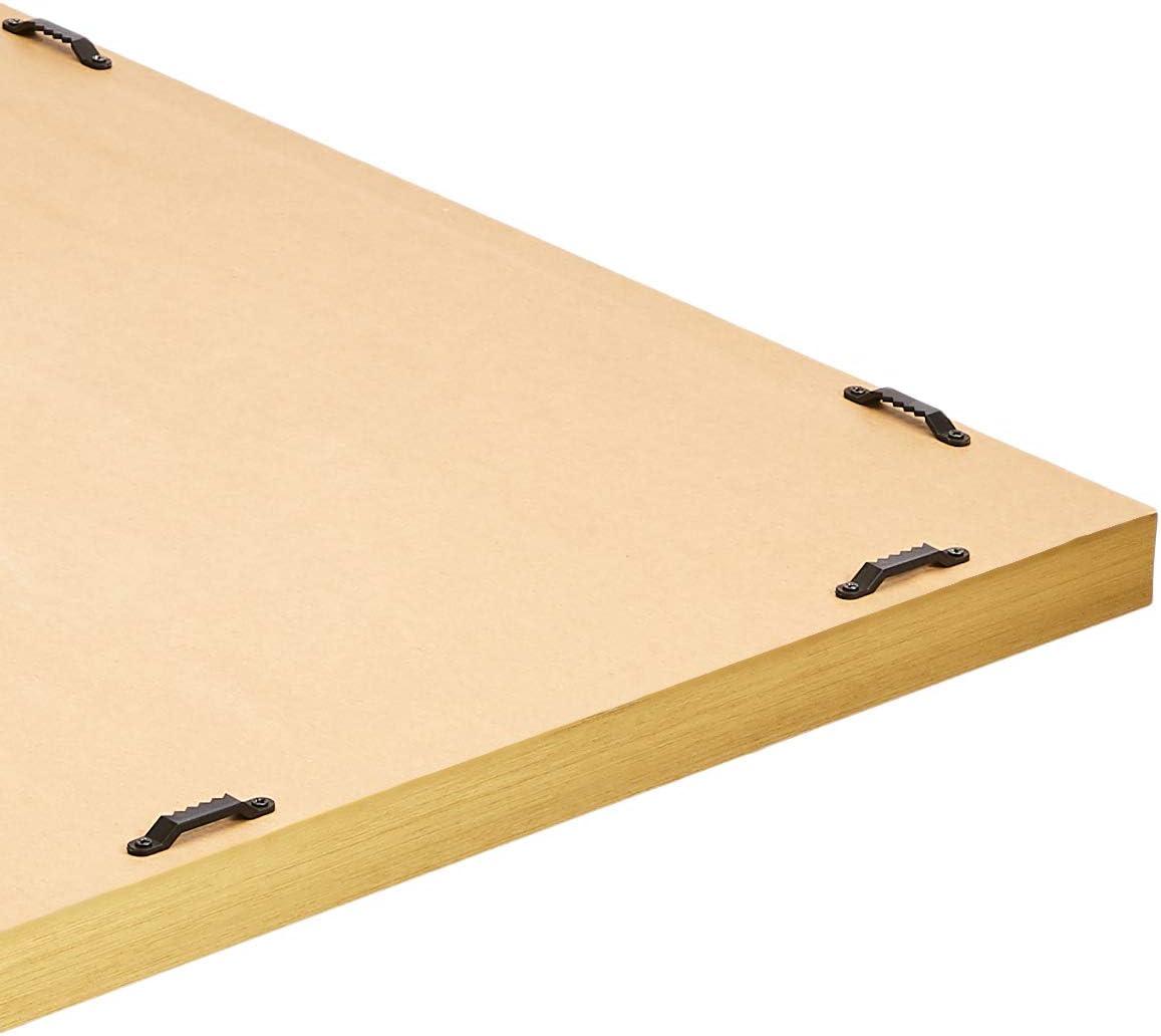 Wei/ß spitzer Rand Basics Rechteckiger Wandspiegel 40,6 x 50,8 cm