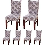 TEERFU [4/6 Pack Dining Chair covers,Removable Stretch Spandex Chair Slipcovers Protector,Banquet Chair Seat Cover for Hotel and Wedding Ceremony, Washable
