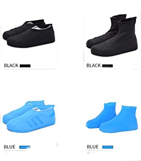 YONGBO Outdoor Latex Desert Sand Travel Rainproof Waterproof Shoe Covers, Foot Covers, Rain Boots For Boys And Girls, (Color : Black, Size : M-Long)