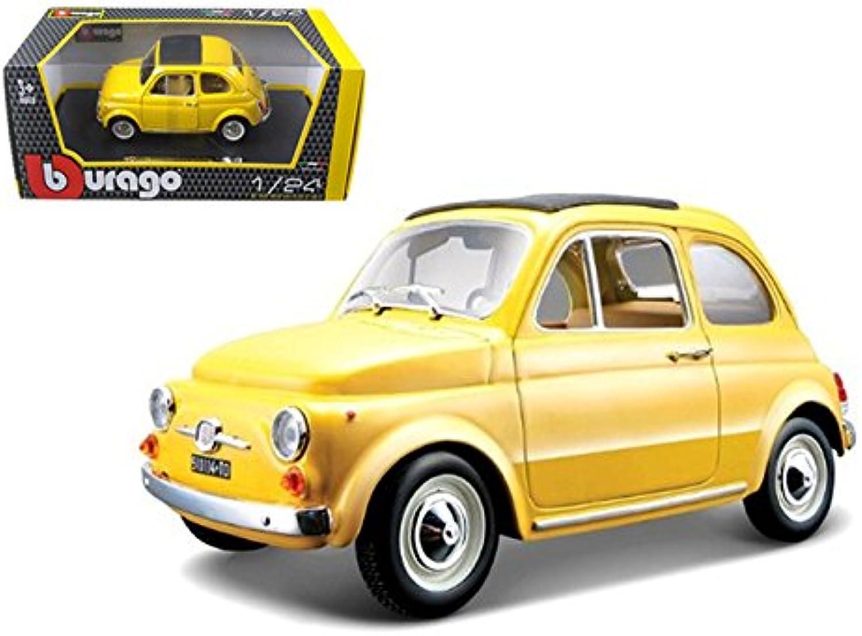 BBurago BBU22098Y 1965 Fiat 500 F, Yellow