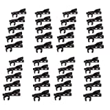 40 Pieces Microphone Tie Clip, 10 Pack Metal Lavalier Tie Clip for for Headset Samson, Nady, Audio-Technica, Hisonic 12mm Diameter Black