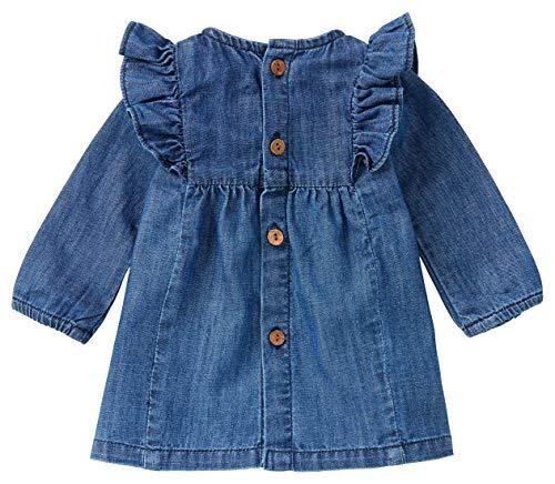 Noppies Baby-Mädchen G Dress LS Marana Kinderkleid, Medium Wash-P534, 62