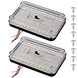 Linkhood 2-pack DC 12V 36 LED Car Truck Vehicle Auto Dome Roof Ceiling Interior Light Lamp White With On/Off Switch for Cars Vans Camper Vans & Taxis