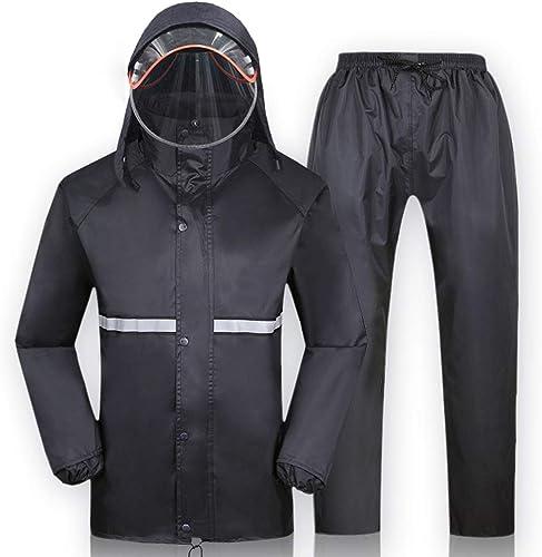 WJQSD VêteHommests de pluie Pantalon de pluie simple moto électrique imperméable costume de pluie male et femelle Split adulte randonnée en plein air imperméable imperméable Imperméable, coupe-vent, séch