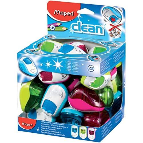 MAPED Clean 1hole canister temperamatite, colori assortiti 2 HOLE