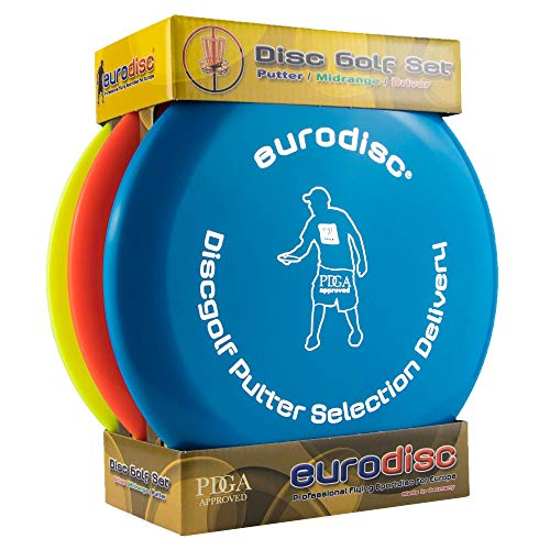 Eurodisc Disc Golf Einsteiger-Starterset Selection Putter Midrange Driver