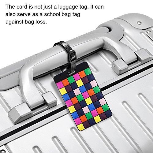 荷物タグ12パックSENHAIスーツケースネームタグ荷物タブネームホルダー番号札-カラフル