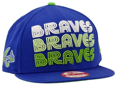 New Era Atlanta Braves Snapback Tri Frontal Royal / Limegreen / White - S-M
