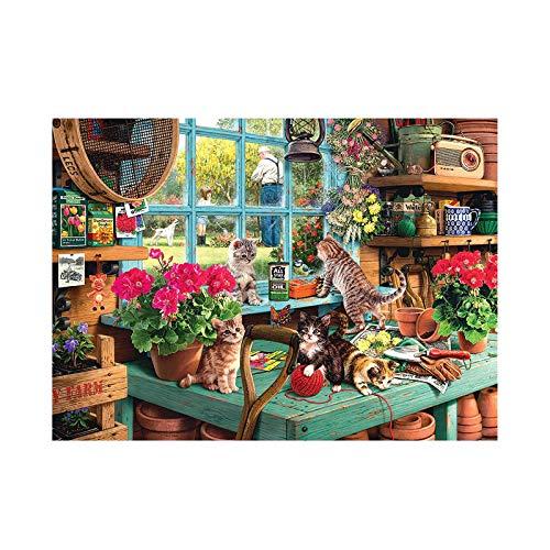 Xmanyao Puzzle 1000 Teile, Katze Puzzle für Erwachsene Kinder,Impossible Puzzle,Geschicklichkeitsspiel für die ganze Familie,Farbenfrohes Legespiel,Papier Große Puzzle,75 x 50cm/ 29.53 x 19.69in