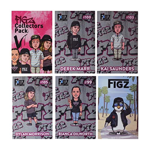 Figz Collection Collectors Stunt Scooter Sticker 6-Pack (Pack 5)