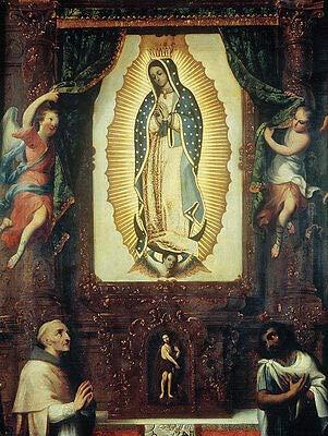 Kunstdruck Altarpiece of The Virgin of Guadalupe Miguel Cabrera Sankt Maria B A3 02894