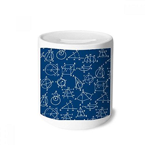 DIYthinker Caixa de moedas geométrica de ciências matemáticas para dinheiro, porta-moedas de cerâmica, presente de cofrinho