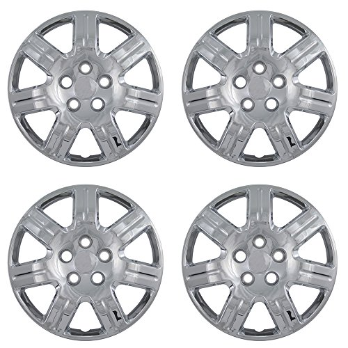 OxGord 16 inch Hubcaps Best for 2006-2013 Honda Civic - (Set of 4) Wheel Covers 16in Hub Caps Chrome Rim Cover - Car Accessories for 16 inch Wheels - Bolt On Hubcap, Auto Tire Replacement Exterior Cap