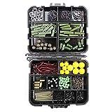 Jason Pitman 189pcs / Lot Carp Fishing Tackle Box Kit Clips De Plomo/Cuentas/Ganchos/Tubos/Pesca Giratorios Cebo Terminal Rigs Carpa Caja De Aparejos (Color : 189 Pieces)