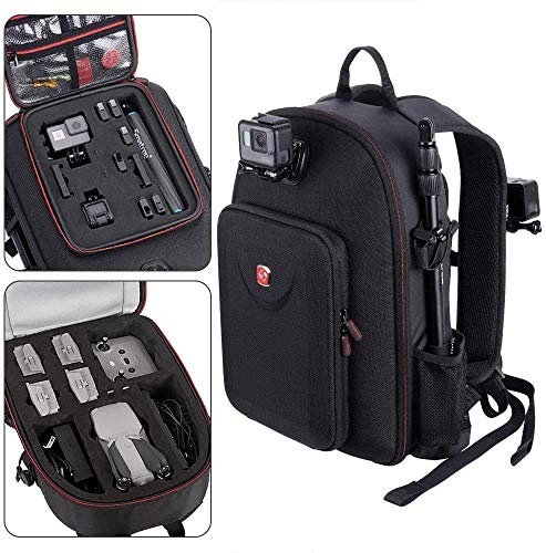 Smatree Rucksack Kompatibel mit DJI Mavic Air 2 Drohne/GoPro Hero 7/6/5/5 Session/Hero Session, passend für DJI Remote Controller