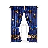 Teenage Mutant Ninja Turtles Window Panels Curtains Drapes & Tiebacks, 42' X 63' Each