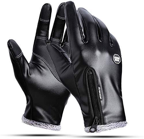 INTVN Handschuhe Herren Warme, Winterhandschuhe bis zu -30℃ Touchscreen Handschuhe Fahrradhandschuhe Warme Winterhandschuhe wasserdichte Touchscreenhandschuhe Winddichte Laufhandschuhe
