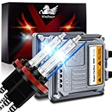WinPower H11 H8 H9 Xenon Birne 55W Scheinwerfer-Umrüstsatz mit CANBus Decoder HID-Vorschaltgerät 8000K Eisblau Hohe Helligkeit Fernlicht/Abblendlicht, 2 Stück