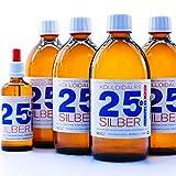 PureSilverH2O argento colloidale 2100ml 25PPM (4 x 500ml) & bottiglia pipetta (100ml) acqua argento 100% fresco ed efficace