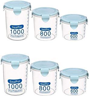 BoîTe De Rangement De Cuisine RéCipient De Nourriture BoîTe De Rangement Pour La Cuisine Plastique Transparent Scellé Stoc...