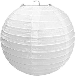 YiGo 1 biały okrągły papier bambusowy w stylu żebrowany abażur