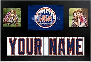 New York Mets MLB Custom Jersey Nameplate and Logo Picture Frame