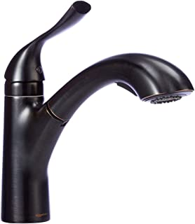 bronze single handle pull out kitchen faucets