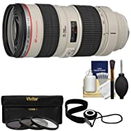 KIT INCLUDES 4 PRODUCTS -- All BRAND NEW Items with all Manufacturer-supplied Accessories + Full USA Warranties: [1] Canon EF 70-200mm f/2.8L USM Zoom Lens + [2] 77mm (UV/CPL/ND8) Filters + [3] CapKeeper 2 + [4] PD 6pc Complete Cleaning Kit