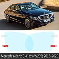 メルセデス ・ ベンツ c クラス W203 W204 W205 c-クラッセ C180 C200 C220 C250 C300 アンチフォグフィルムバックミラーカーアクセサリー 2015-C-Class (W205) 15-19