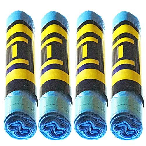 Natuiahan 60 Duft-Müllbeutel, Blau, Selbstverschließend, 30 l, Umweltfreundlich, Ohne Rutschen.