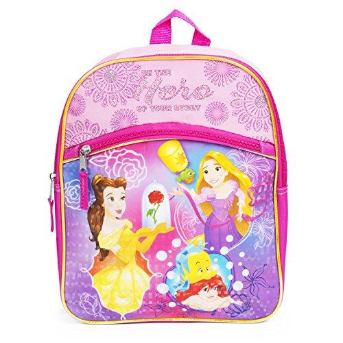 Disney Princess Toddler Backpack for Girls - 12 inch School Bag for Toddlers