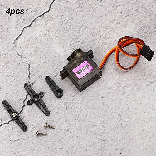 2 kg/cm Servo, 4 Stück Metallgetriebe Servo Analoges Servo 180 Grad Drehwinkel Digitales Servo RC-Boot Flugzeug Upgrade-Zubehör(Schwarz)