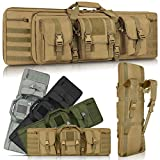 LUXHMOX Double Long Soft Rifle Case, American Classic Outdoor Tactical Carbine Rifle Bag & Multi-Function Long Gun Case, Perfect for Storage & Transportation, Available Length in 36' 42'
