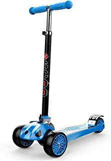 Scooters YXX Folding Kick 3 Wheels for Kids, 110lb Weight Capacity, Suitable for Children from 2 to 16 Years Old