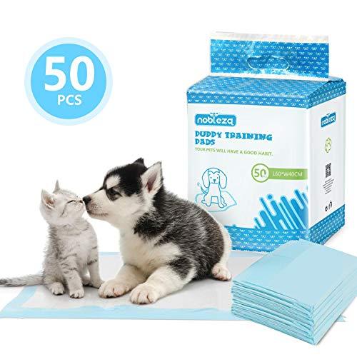 Nobleza - 50 x Empapadores Perros Alfombrilla higiénica de Entrenamiento para Perros. Ultraabsorbente 40cm*60cm.