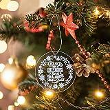 Watopi 1PC 2020 Navidad plexiglás adornos colgantes decoración personalizada transparente feliz Navidad vacaciones