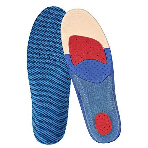 TOPTETN Einlegesohle Hohe Fußstütze Weiche Medizinische Funktionelle Orthesen Einlegesohle, Insert für Plattfüße, Plantar Fasciitis, Fußschmerzen, Jogging, Running (L, Blau)