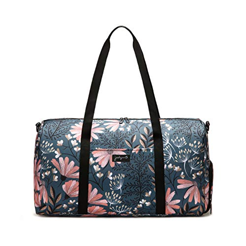 Jadyn B Weekender Bag - 56 cm./22 inch - 52L - Overnight or Weekend Duffel Bag with Shoe Pocket (Navy Floral)