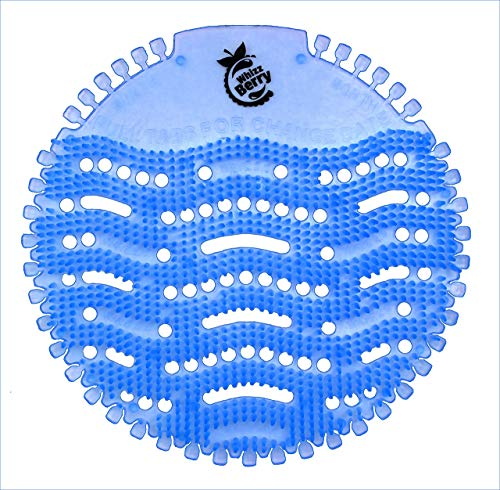 Urinario Protector Whizz Berry Azul (Pack de 10) - indicador de cambio y protector de salpicaduras para cada urinario y retrete de pared