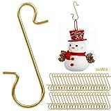 Yisscen 120 Piezas Gancho de Árbol de Adorno Pequeño, Reutilizable Percha Pequeña de Navidad, para Colgar Adornos Navideños y Otras Decoraciones para Árboles de Navidad(Aorado)