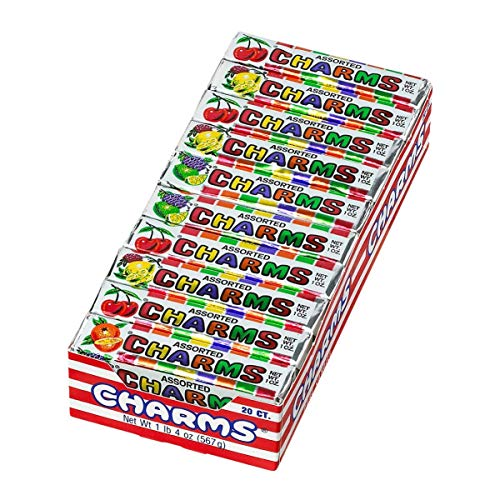 Charms Squares, Assorted Fruit Flavors, Box of 20 Packs