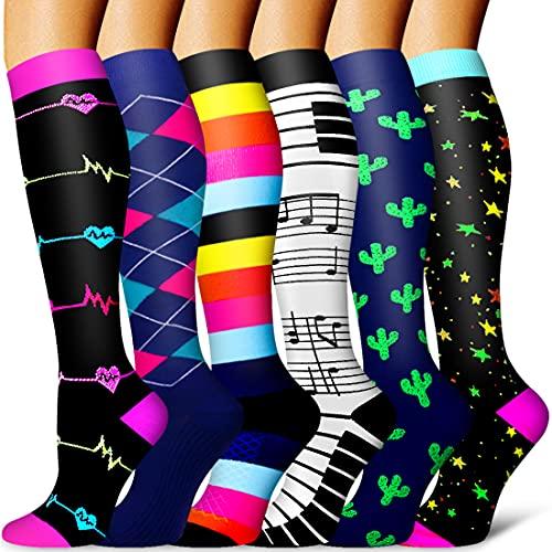 Compression Socks for Women & Men-Best for Running, Nurse,Travel,Cycling,Maternity,Pregnant,Flight Socks