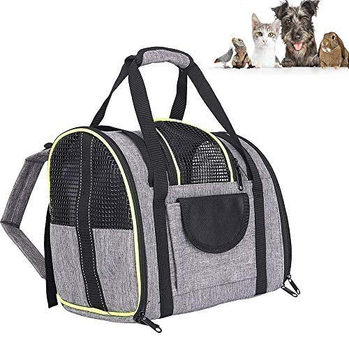 biggroup Foldable Pet Backpack Carrier Bag, Breathable Cat Backpack Dog Travel Bag with Mesh Window for Cat Puppy Rabbit Small Dogs Travel Camping Hiking, 35x28x23cm (Suitable for 2-4.5kg pet)