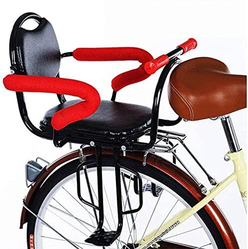 X&Y Niño bebé Asiento de Bicicleta Montaje Trasero, Bicicleta para niños Asientos de Seguridad para 2~6 años de niño pequeño con reposabrazos/Resto y Pedales Valla Desmontable