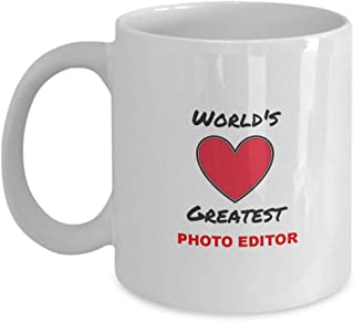 Photo Editor Gift Worlds Greatest Valentines Day Birthday Present Mug Him Or Her Gifts For Men Women Anniversary Xmas Mothers Day Ceramic Novelty
